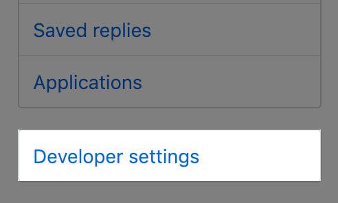 GitHubの開発者設定