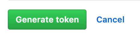 Generate tokenのボタン